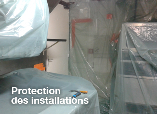 protection des installations pour le nettoyage des hottes